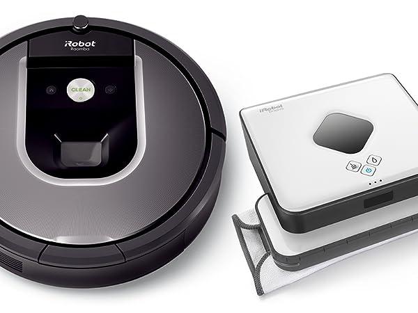 Roomba Volks-Saugroboter 960 und Braava 390T