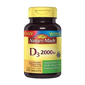 Nature Made D3, 2000 IU