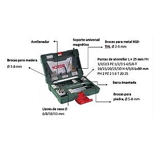 Bosch; Bricolaje; Herramientas; accesorios; brocas; puntas; maletines; maletín; atornillador;