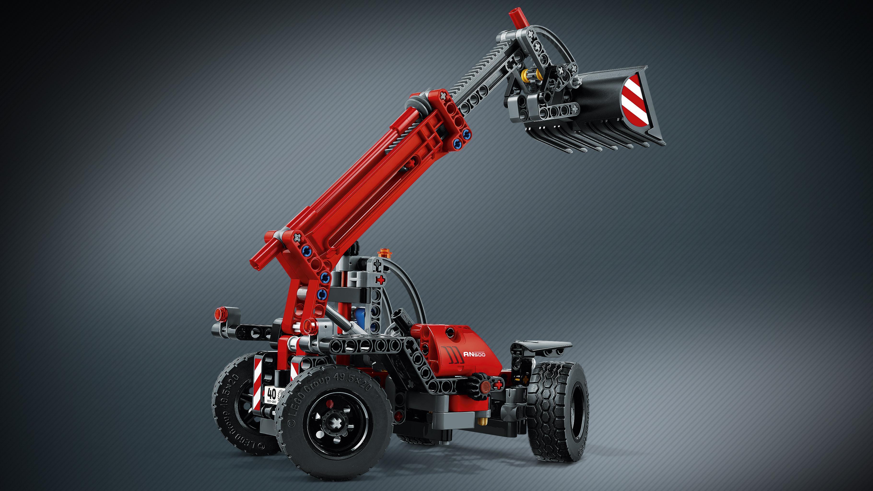 lego technic telehandler 42061 building kit toys games. Black Bedroom Furniture Sets. Home Design Ideas