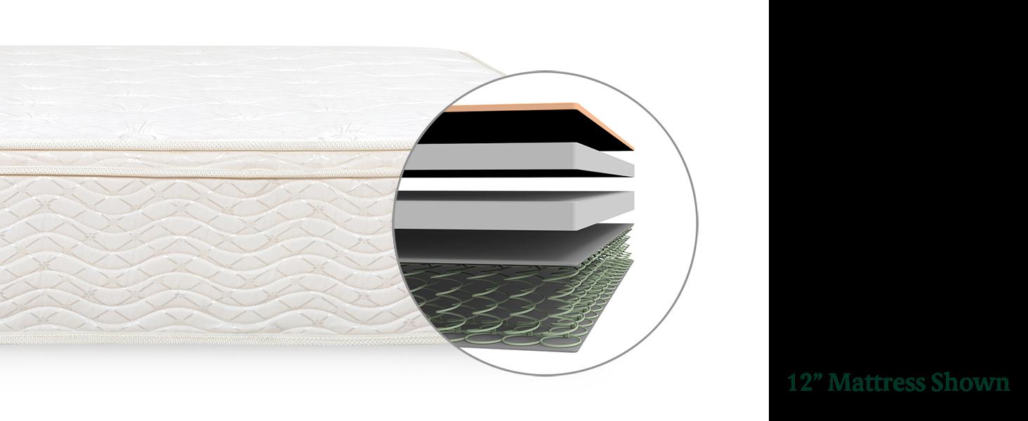Amazon Com Zinus 8 Inch Hybrid Green Tea Foam And Spring