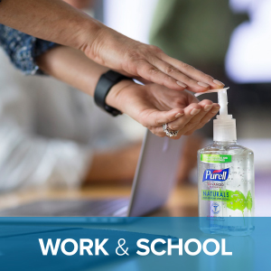 sanitizer at work, reduce absenteeism, office health, employee well-being, kill germs