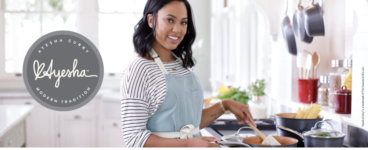 ayesha curry, cookware, bakeware, knives, kitchen knife set, chef knife