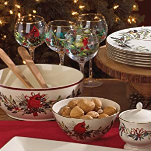 Amazon lenox winter greetings 12 piece set christmas dishes lenox holiday lenox winter greetings lennox lenox holiday ornaments winter greetings m4hsunfo