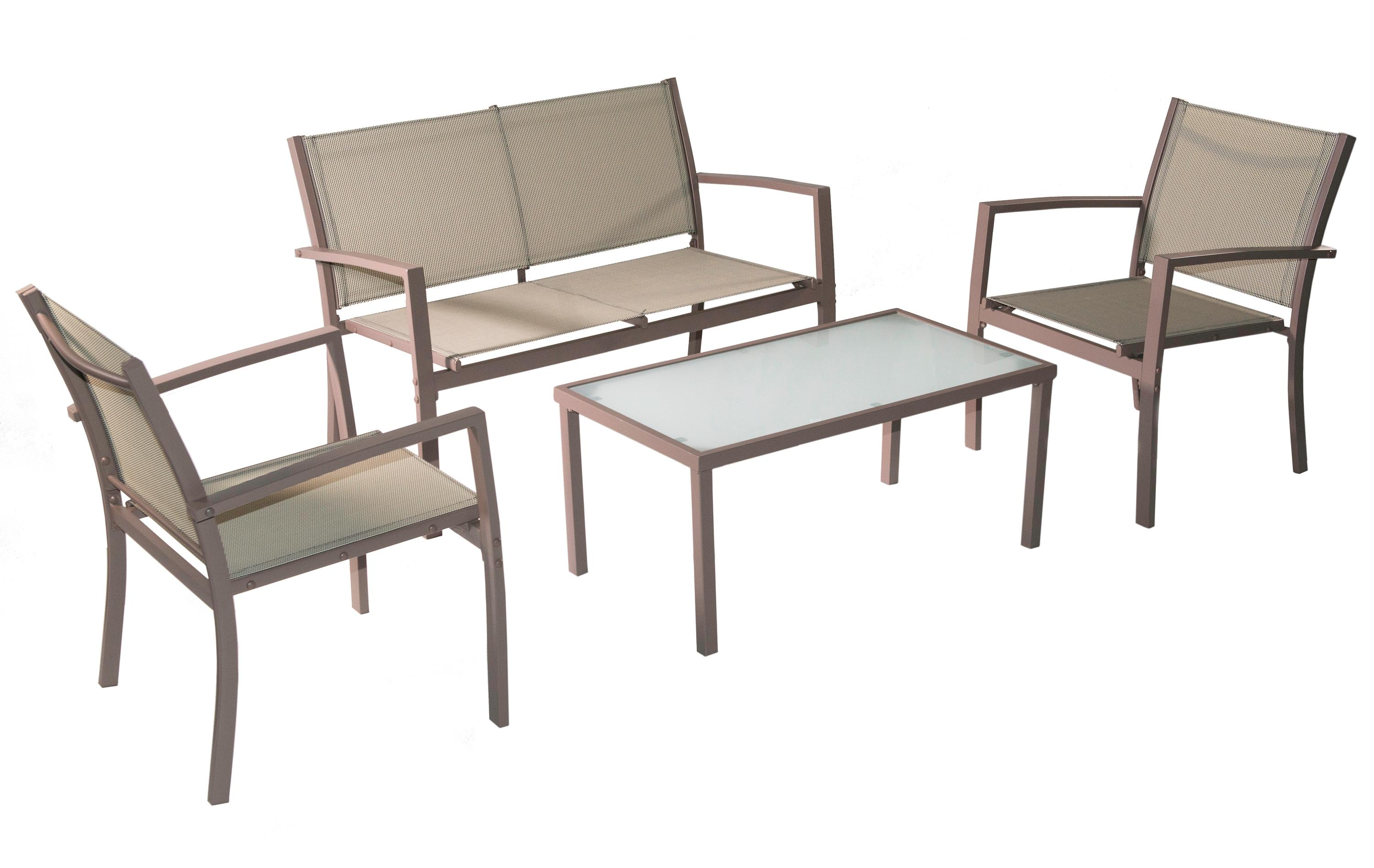 Amazon Com Traxion 4 211 Outdoor Patio Furniture Set Beige Garden