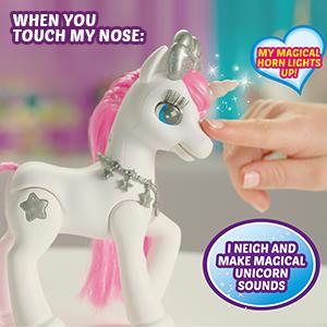 white unicorn, perfect christmas toy, christmas present