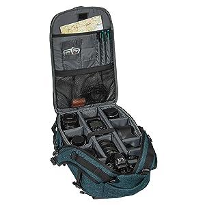 Kamerarucksack für Canon EOS 6D Mark II, 70D, 77D, 80D