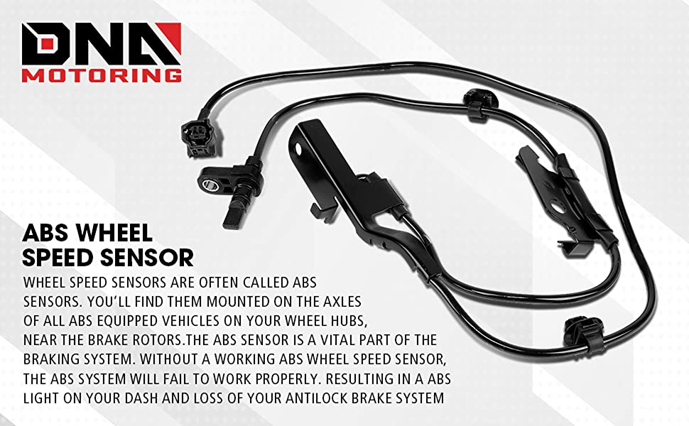 DNA Motoring OEM-SS-040 Factory Style Front Left Right ABS Wheel Speed Sensors Assembly