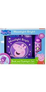 Peppa Pig - Moonlight Bright Sound Book and Flashlight Set
