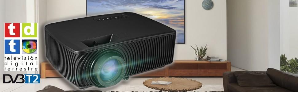 Único proyector con TDT de alta definición compatible con TDT2 y AC3