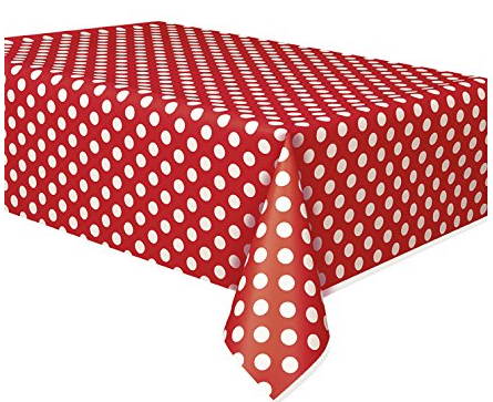 Deluxe Red Polka Dot Party Supplies Kit for 8 · Red Polka Dot Party Supplies Kit for 8 · Red Polka Dot Paper Plates 8ct · Red Polka Dot Paper Cake Plates ...  sc 1 st  Amazon.com & Amazon.com: Polka Dot Plastic Tablecloth 108