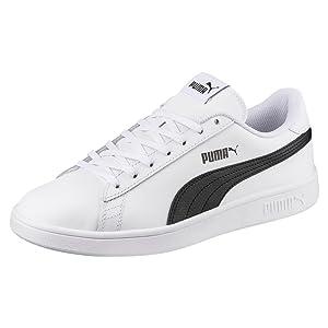Puma Smash Wns V2 L, Zapatillas para Mujer, Blanco (Puma White-Puma Black 1), 39.5 EU