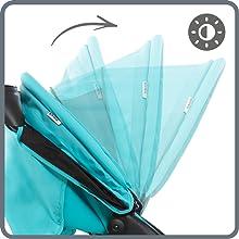 adjustable sun canopy all weather protection against sun rain peek-a-boo window air circulation