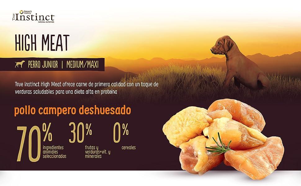 True Instinct High Meat Junior - Natures Variety - Pienso ...
