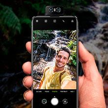 câmera frontal selfie