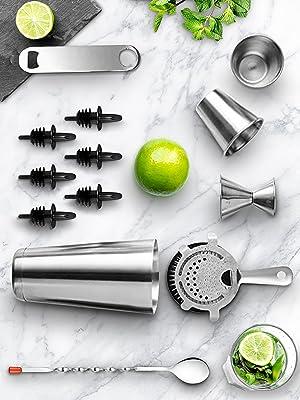 Mixology;Bartender Cocktail Shaker;Cocktail Shaker Set;Stainless Steel;Cocktail Bar Set Mix;Mixing