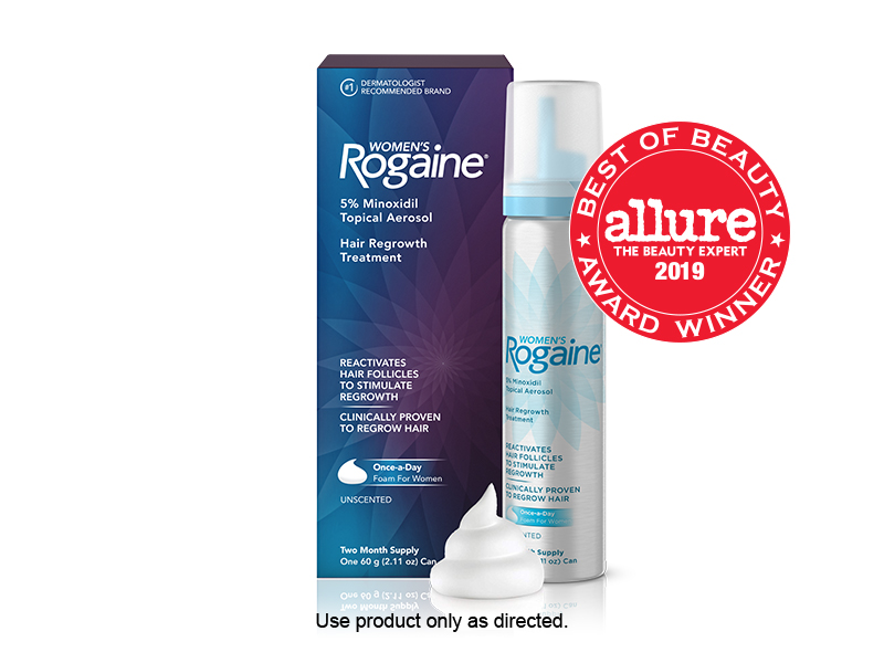 REGROW THICKER, BEAUTIFUL HAIR WITH WOMEN'S ROGAINE FOAM