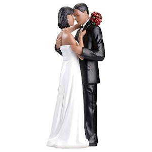 African American Bride amp; Groom Wedding Cake Topper