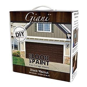 Giani Wood Look Garage Door Paint Kit 2 Car Black Walnut