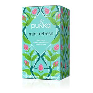 pukka herbal tea supplement organic fair sustainable mint peppermint digestion bloating rose