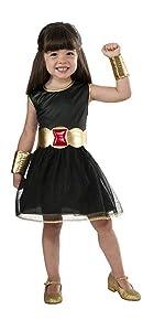 Girls Black Widow Costume