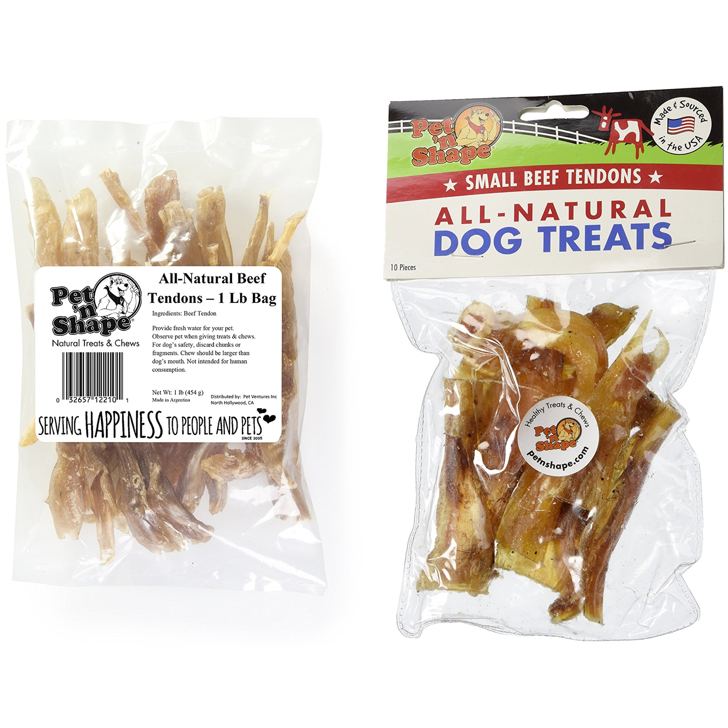 Amazon.com : Pet 'n Shape All Natural Beef Tendon Dog