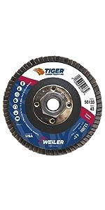 Weiler Tiger Saber Tooth Ceramic Alumina Flap Disc