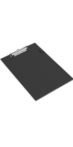 KAV A4 PVC Foolscap Standard Clipboard Clip Board Choose Your Colour Black//Blue//RED and Qty from Drop Down Black, 20 PCS