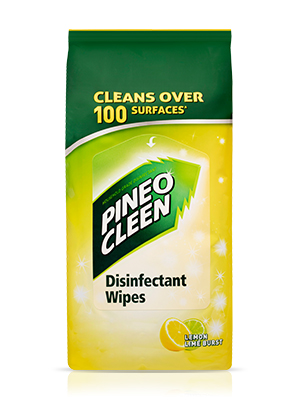 pine o cleen disinfecting wipe cleaning