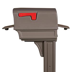 gentry two door mailbox