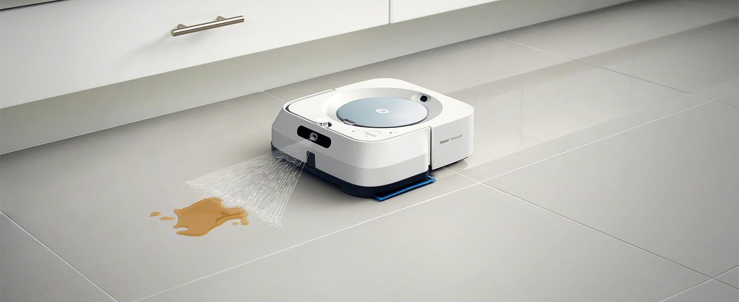 iRobot Braava m6134: Robot fregasuelos con WiFi, pulverizador a ...