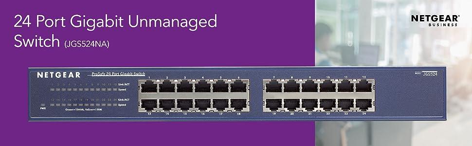 24 port gigabit unmanaged switch jgs524na