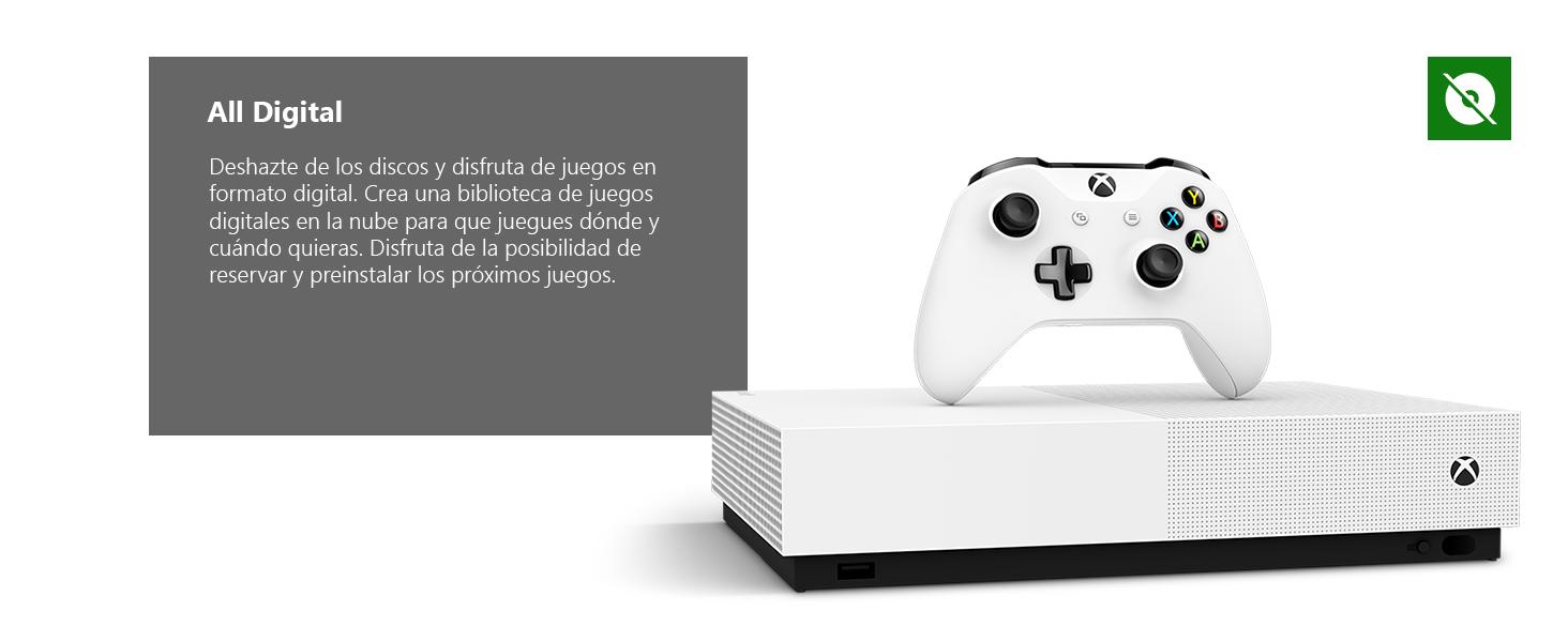 Microsoft - Xbox One S 1 TB All-Digital Edition, Fortnite (juego ...
