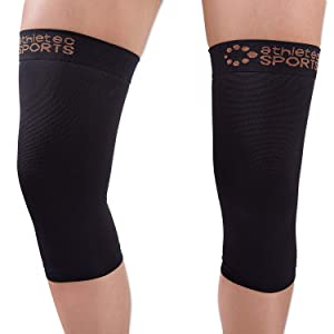 Knee Compression Sleeve Support Joint Pain Relief, Arthritis, Running, Jogging, Sports Injury