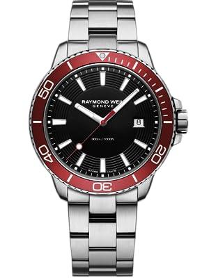 Raymond Weil Men's 'Tango 300' Men's Red Diver Watch, 42mm