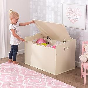KidKraft 14958 Baúl infantil de juguetes de madera Austin - Vanilla
