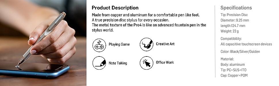 Aluminum stylus