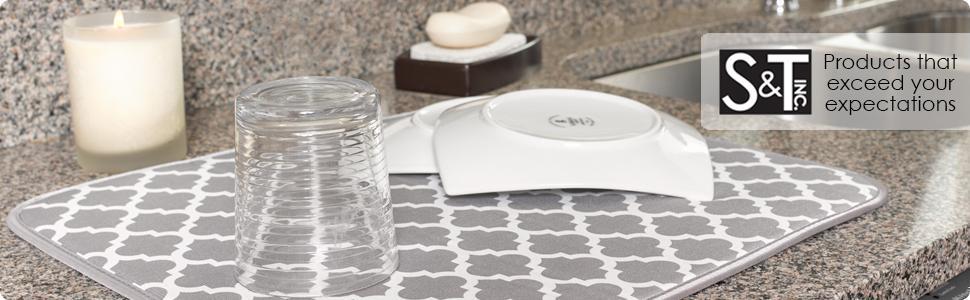 dishes; dish racks; drying; microfiber