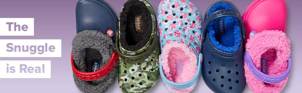 crocs lined clogs, crocs lined kids shoes, crocs lined shoes, kids lined shoes, lined kids shoes