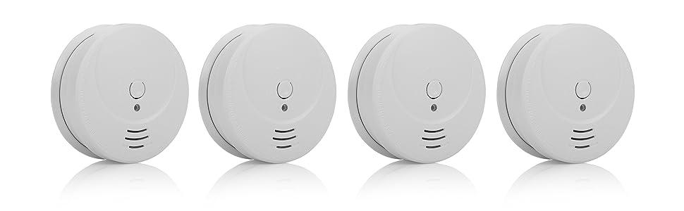 1 Year Battery 2 Pack White Smartwares RM250//2 Optical Smoke Detector
