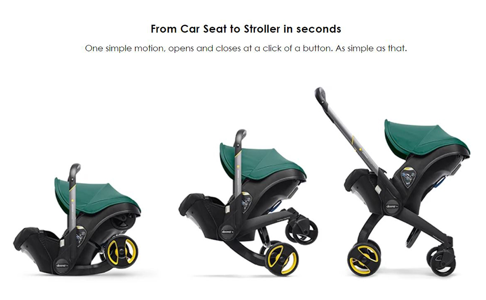 from car seat to stroller in seconds