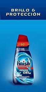 Finish detergente lavavajillas formato Gel - Duplo 100 lavados ...