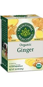 Traditional Medicinals Organic Ginger Herbal Tea