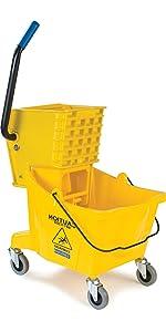 professional mop bucket, string mop, rolling mop bucket, wheeled mop bucket