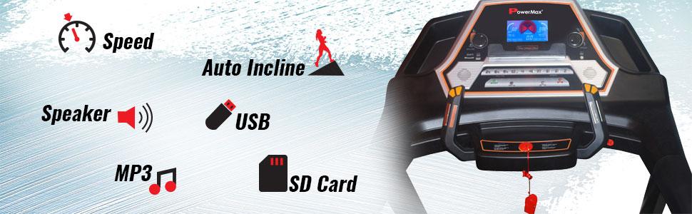 Unisex Adult 3.0 HP Motorized Treadmill Auto Incline Daily Workout Black Medium Free Installation