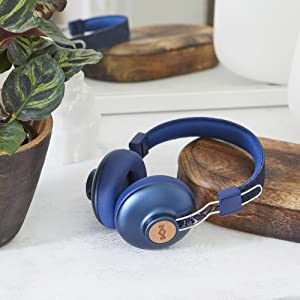 House of Marley Positive Vibration 2 Wireless - Bluetooth On-Ear Headphones, Noise Isolating,