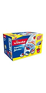 vileda easy wring ultramat flat mop and bucket with power. Black Bedroom Furniture Sets. Home Design Ideas