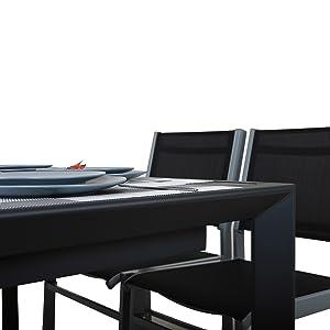Chicreat - Mesa extensible de aluminio para jardín, 127-180 x 77 x ...