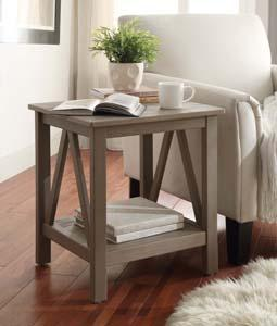 Titian Rustic Gray End Table
