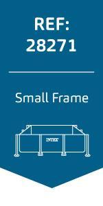 Intex 28272NP Small Frame - Piscina desmontable, 300 x 200 x 75 cm ...